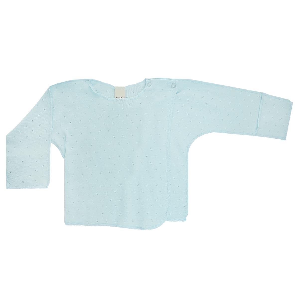 Распашонка Lucky Child Ажур цвет: голубой. 0-8. Размер 62/680-8Распашонка для новорожденного Lucky Child Ажур с длинными рукавами послужит идеальным дополнением к гардеробу вашего малыша, обеспечивая ему наибольший комфорт. Распашонка изготовлена из натурального хлопка, благодаря чему она необычайно мягкая и легкая, не раздражает нежную кожу ребенка и хорошо вентилируется, а эластичные швы приятны телу малыша и не препятствуют его движениям.Распашонка-кимоно для новорожденного, выполненная швами наружу, и украшенная ажурным узором, имеет кнопки по плечу, которые помогают с легкостью переодеть малыша. А благодаря рукавичкам ребенок не поцарапает себя. Ручки могут быть как открытыми, так и закрытыми. Распашонка полностью соответствует особенностям жизни ребенка в ранний период, не стесняя и не ограничивая его в движениях. В ней ваш малыш всегда будет в центре внимания.
