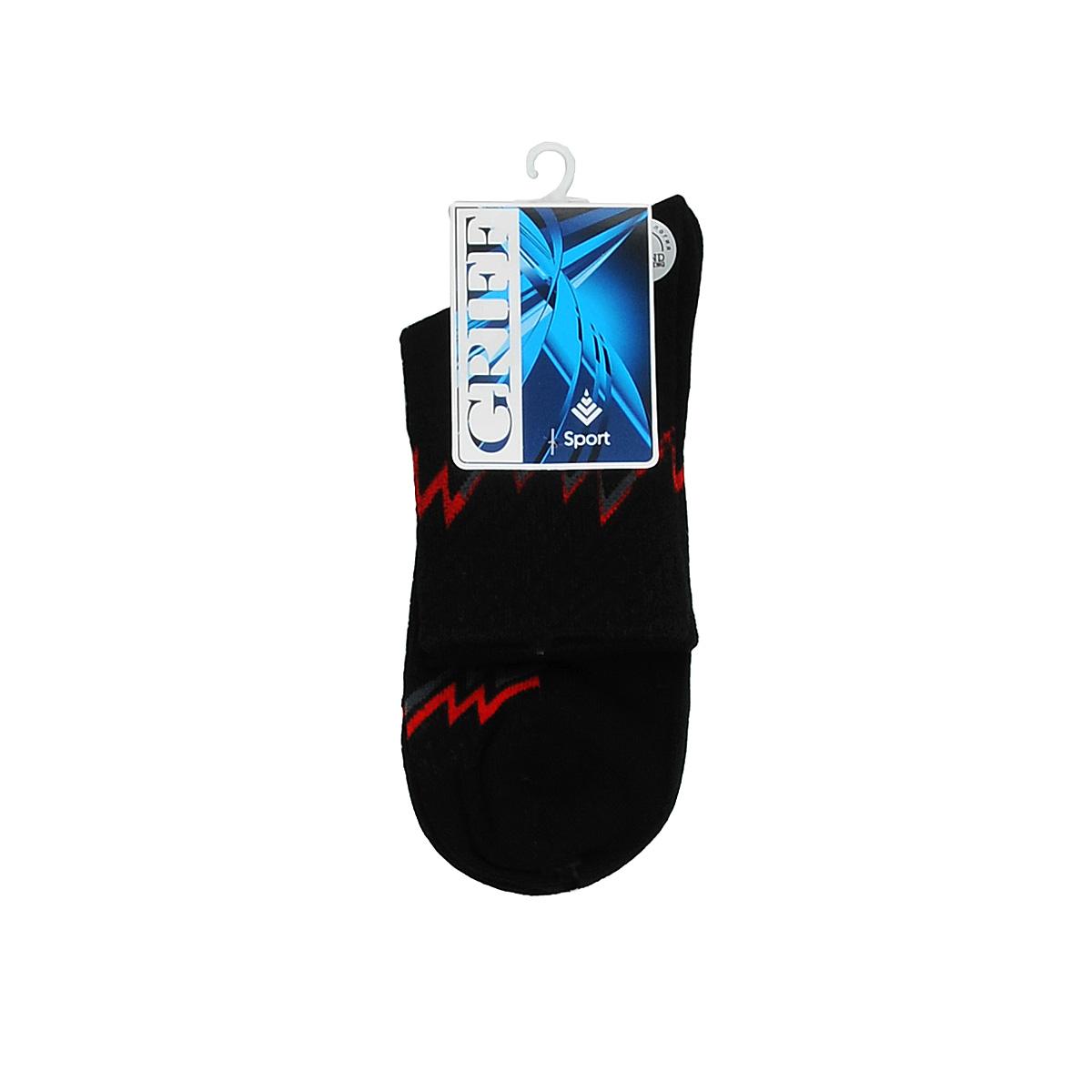 Носки Griff Sport, цвет: черный. Размер 45/47. S30S30Носки для активного отдыха и занятий спортом Griff Sport отличаются повышенной гигроскопичностью и комфортностью. Удобная резинка пресс-контроль способствует профилактике усталости ног. Усиленные пятка и носок.