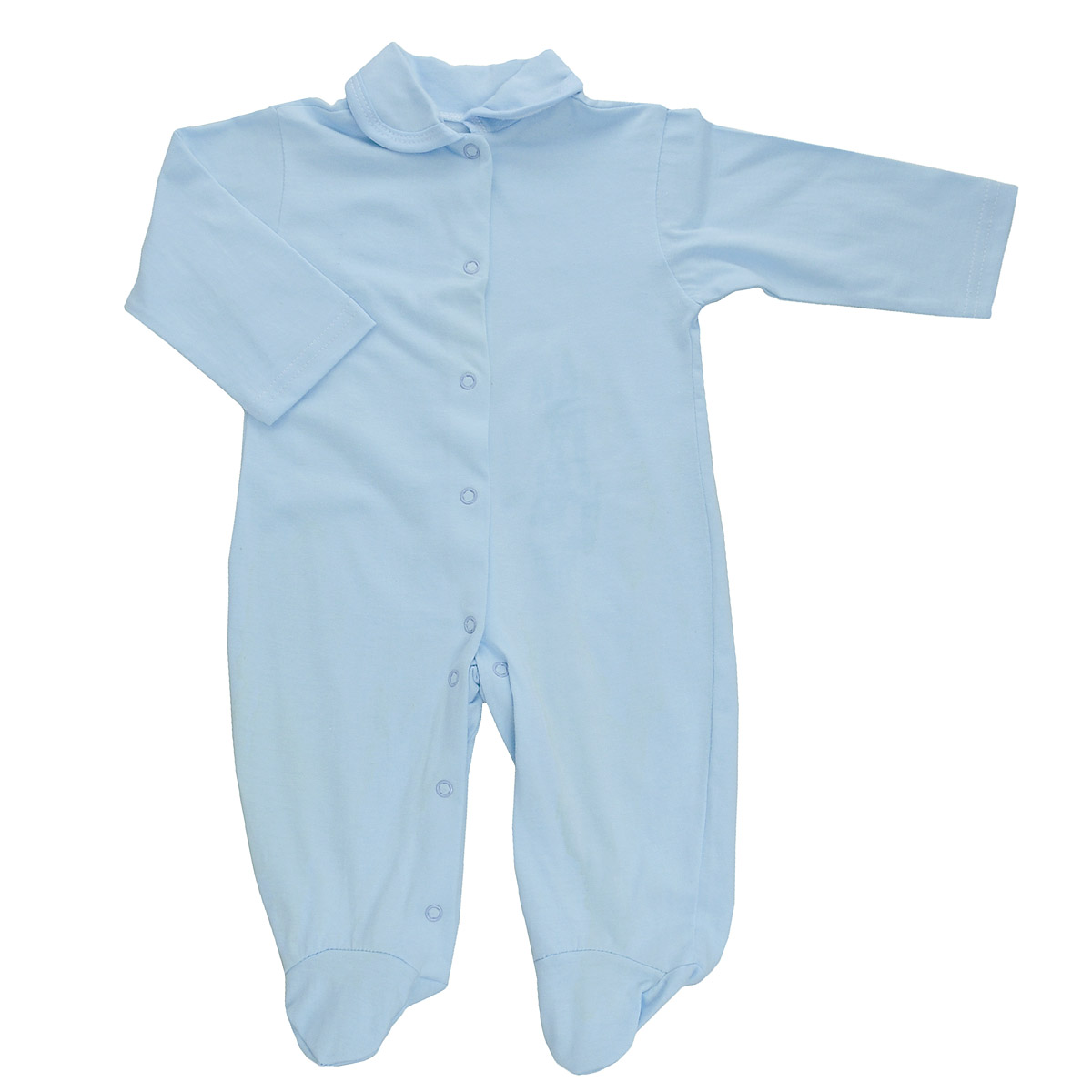 Комбинезон детский Трон-Плюс, цвет: голубой. 5805. Размер 62, 3 месяца5805Детский комбинезон Трон-Плюс - очень удобный и практичный вид одежды для малышей. Комбинезон выполнен из кулирного полотна - натурального хлопка, благодаря чему он необычайно мягкий и приятный на ощупь, не раздражает нежную кожу ребенка, и хорошо вентилируются, а эластичные швы приятны телу малыша и не препятствуют его движениям. Комбинезон с длинными рукавами, закрытыми ножками и отложным воротничком имеет застежки-кнопки от горловины до щиколоток, которые помогают легко переодеть младенца или сменить подгузник. С детским комбинезоном спинка и ножки вашего малыша всегда будут в тепле, он идеален для использования днем и незаменим ночью. Комбинезон полностью соответствует особенностям жизни младенца в ранний период, не стесняя и не ограничивая его в движениях!