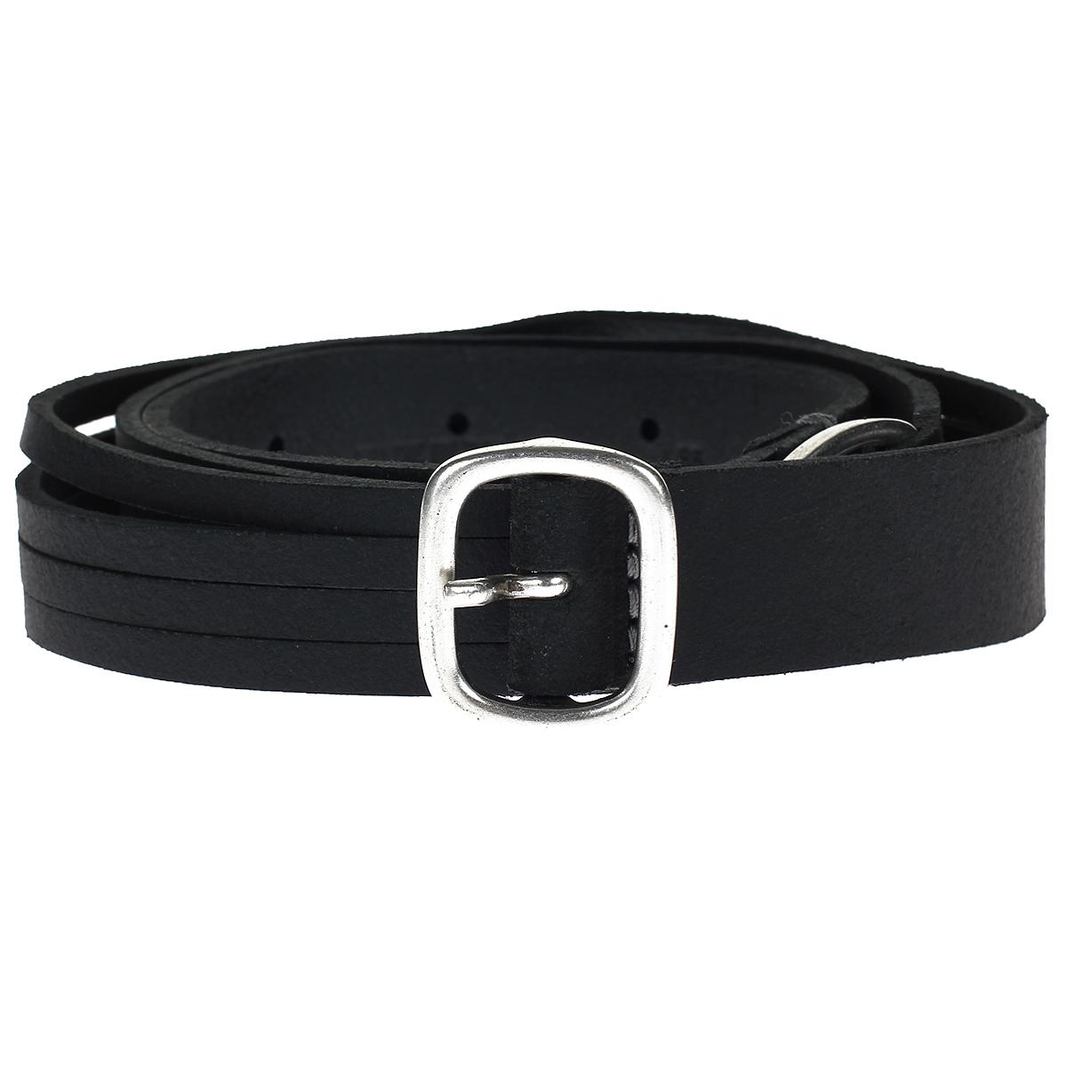 Ремень женский Lee Cut Strap Belt, цвет: черный. LY065301 95 0. Размер 95LY065301Стильный ремень выполнен из натуральной коровьей кожи и застегивается на металлическую пряжку. Ремень состоит из двух частей, соединенных металлическим кольцом и декорированных сквозными прорезями.Ремень - очень важная часть гардероба и к его выбору стоит относиться очень серьезно. Такой ремень дополнит ваш образ, стиль и статус.