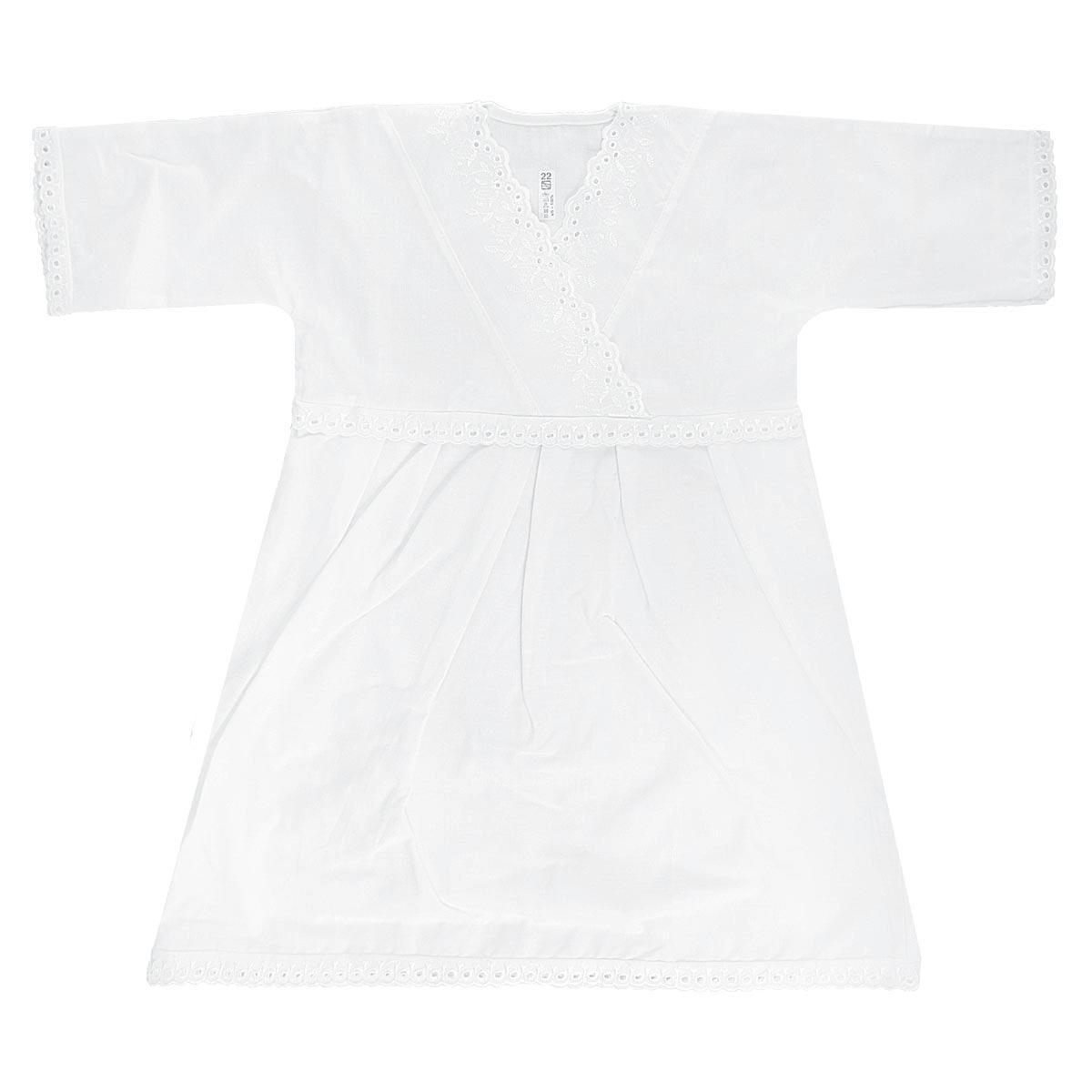Крестильная рубашка для девочки Трон-плюс, цвет: белый. 1151. Размер 74, 9 месяцев1151Крестильная рубашка для девочки Трон-плюс, выполненная из натурального хлопка, идеально подойдет для крещения вашей малышки. Рубашка необычайно мягкая и приятная на ощупь, не сковывает движения и позволяет коже дышать, не раздражает нежную кожу ребенка, обеспечивая ему наибольший комфорт. Рубашка трапециевидной формы с длинными рукавами имеет полочку на кокетке с запахом, отделанную вышивками. Низ рукавов и низ изделия украшены очаровательными ажурными петельками. От линии талии заложены складочки, придающие рубашке пышность.Благодаря такой рубашке ваша малышка не замерзнет, и будет выглядеть нарядно.
