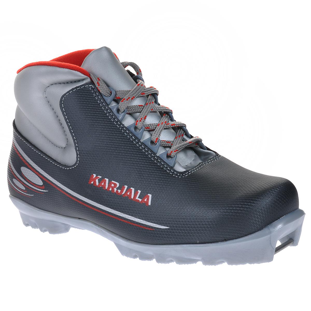 Ботинки для беговых лыж Karjala (Карелия) Cruiser NNN, цвет: серый. Размер 37