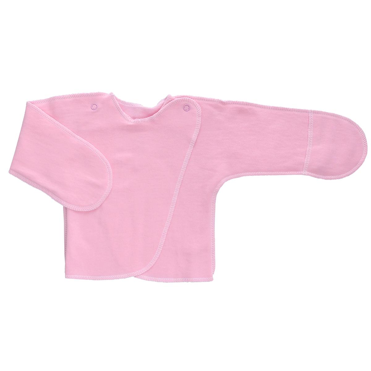 Распашонка Трон-Плюс, цвет: розовый. 5023. Размер 56, 1 месяц5023Распашонка с закрытыми ручками Трон-плюс послужит идеальным дополнением к гардеробу младенца. Распашонка, выполненная швами наружу, изготовлена из футера - натурального плотного хлопка, благодаря чему она необычайно мягкая, легкая и теплая, не раздражает нежную кожу ребенка и хорошо вентилируется, а эластичные швы приятны телу младенца и не препятствуют его движениям. Распашонка с запахом, застегивается при помощи двух кнопок на плечах, которые позволяют без труда переодеть ребенка. Благодаря рукавичкам ребенок не поцарапает себя.