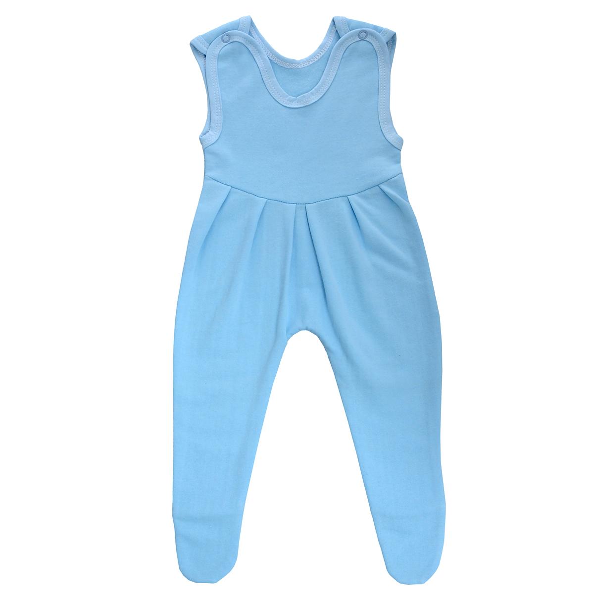 Ползунки с грудкой Трон-плюс, цвет: голубой. 5221. Размер 56, 1 месяц5221Ползунки с грудкой Трон-плюс - очень удобный и практичный вид одежды для малышей. Ползунки выполнены из футера - натурального хлопка, благодаря чему они необычайно мягкие, тепленькие и приятные на ощупь, не раздражают нежную кожу ребенка и хорошо вентилируются, а эластичные швы приятны телу младенца и не препятствуют его движениям. Ползунки с закрытыми ножками, застегивающиеся сверху на две кнопочки, идеально подойдут вашему ребенку, обеспечивая ему наибольший комфорт, подходят для ношения с подгузником и без него. От линии груди заложены складочки, придающие изделию оригинальность.Ползунки с грудкой полностью соответствуют особенностям жизни младенца в ранний период, не стесняя и не ограничивая его в движениях!