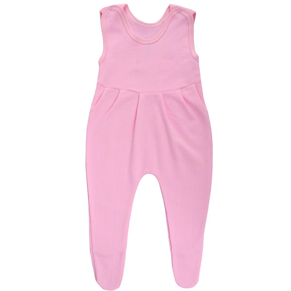 Ползунки с грудкой Трон-плюс, цвет: розовый. 5221. Размер 74, 9 месяцев5221Ползунки с грудкой Трон-плюс - очень удобный и практичный вид одежды для малышей. Ползунки выполнены из футера - натурального хлопка, благодаря чему они необычайно мягкие, тепленькие и приятные на ощупь, не раздражают нежную кожу ребенка и хорошо вентилируются, а эластичные швы приятны телу младенца и не препятствуют его движениям. Ползунки с закрытыми ножками, застегивающиеся сверху на две кнопочки, идеально подойдут вашему ребенку, обеспечивая ему наибольший комфорт, подходят для ношения с подгузником и без него. От линии груди заложены складочки, придающие изделию оригинальность.Ползунки с грудкой полностью соответствуют особенностям жизни младенца в ранний период, не стесняя и не ограничивая его в движениях!
