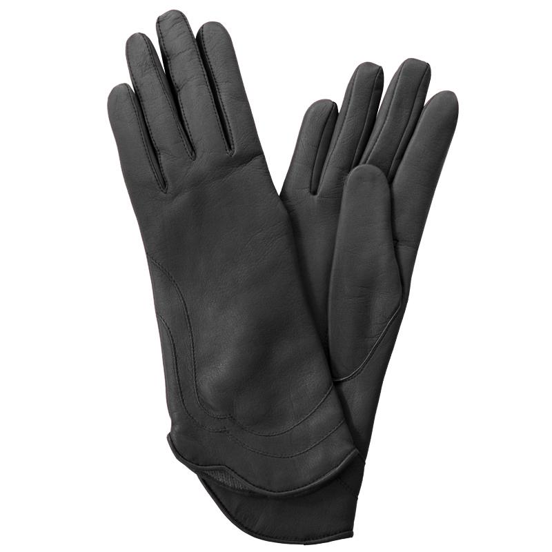 Перчатки женские Edmins, цвет: черный. Э-21L_48. Размер 6,5Э-21L_48Стильные женские перчатки Edmins не только защитят ваши руки от холода, но и станут великолепным украшением. Перчатки выполнены из натуральной кожи ягненка, подкладка - из шерсти. Манжеты с полукруглым краем декорированы фигурными строчками. В настоящее время перчатки являются неотъемлемой принадлежностью одежды, вместе с этим аксессуаром вы обретаете женственность и элегантность. Перчатки станут завершающим и подчеркивающим элементом вашего стиля и неповторимости.