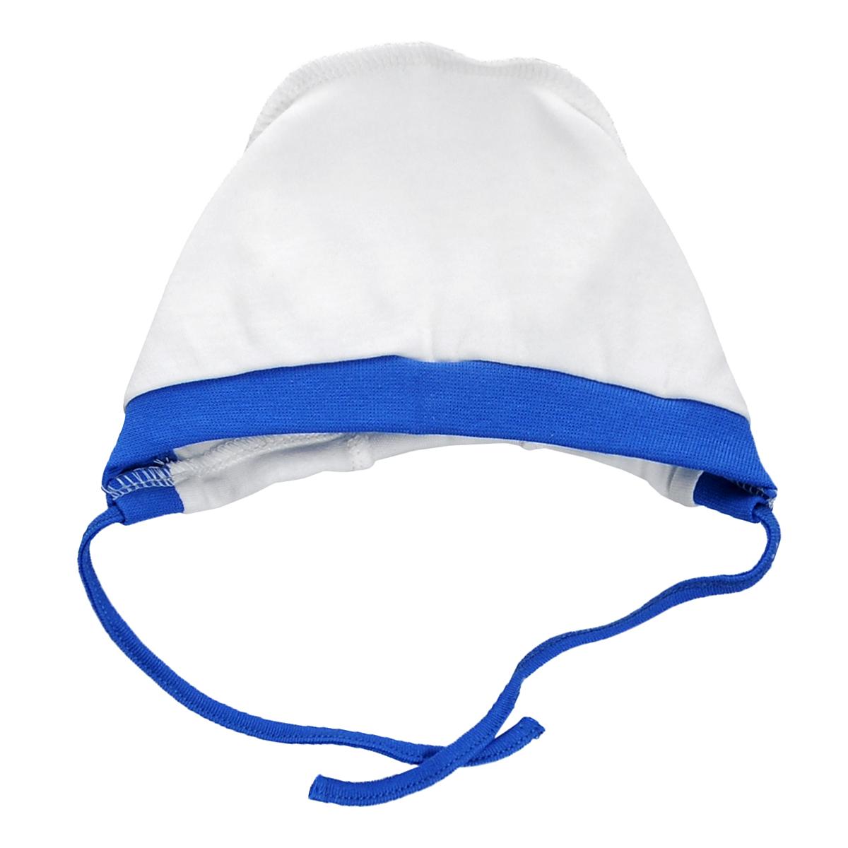 Чепчик Lucky Child, цвет: белый, синий. 9-10Б. Размер 47