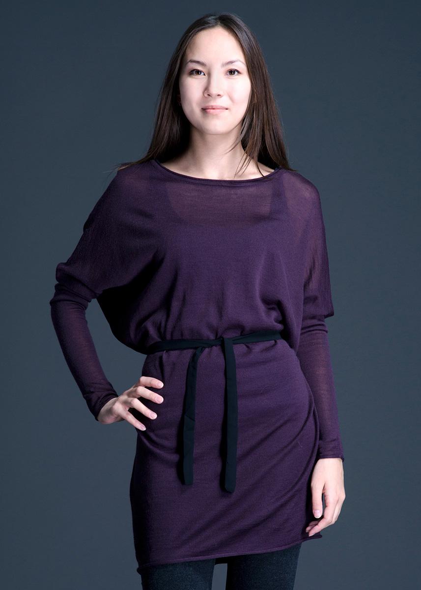 Платье ICHI, цвет: фиолетовый. 828910-5848. Размер XS (40/42)828910-5848Очаровательное женское платье Lavand, выполненное из тонкого трикотажа, обладает воздухопроницаемостью и гигроскопичностью, позволяет коже дышать. Модель свободного кроя с длинными рукавами-кимоно, на талии завязывается на текстильный пояс.Это платье отличный вариант для вашего гардероба и для создания эффектного образа.