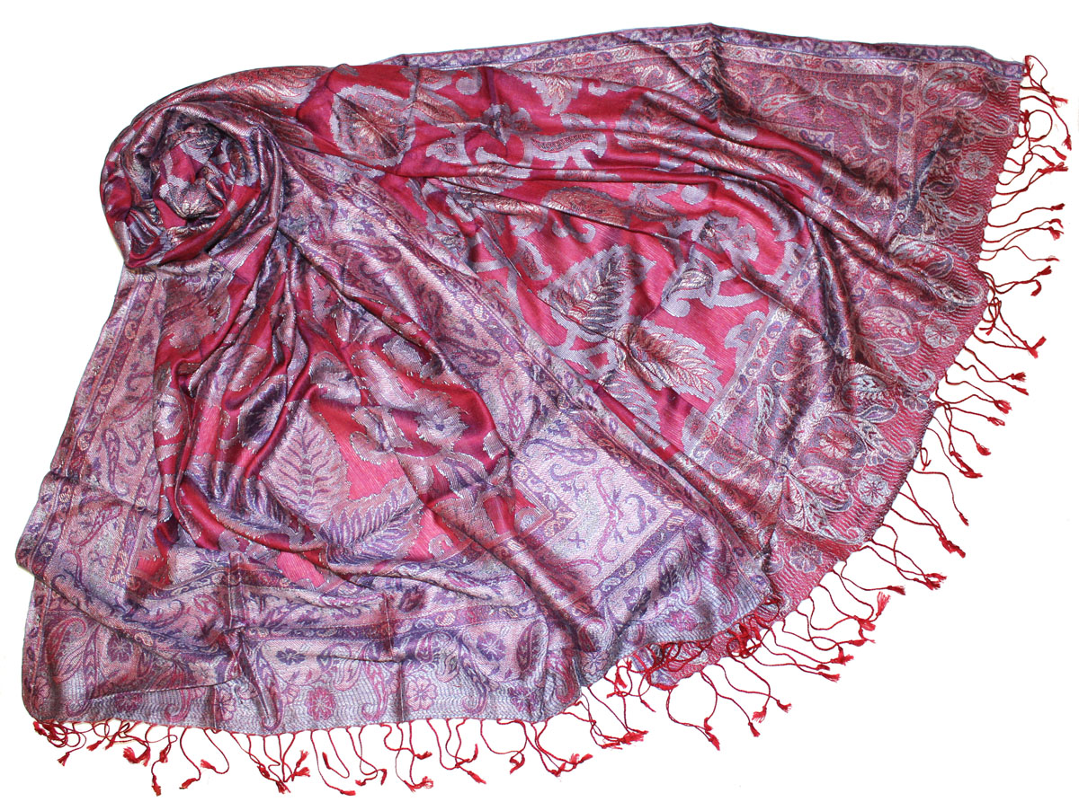 Палантин женский Ethnica, цвет: сиреневый. 381350н. Размер 70 см х 180