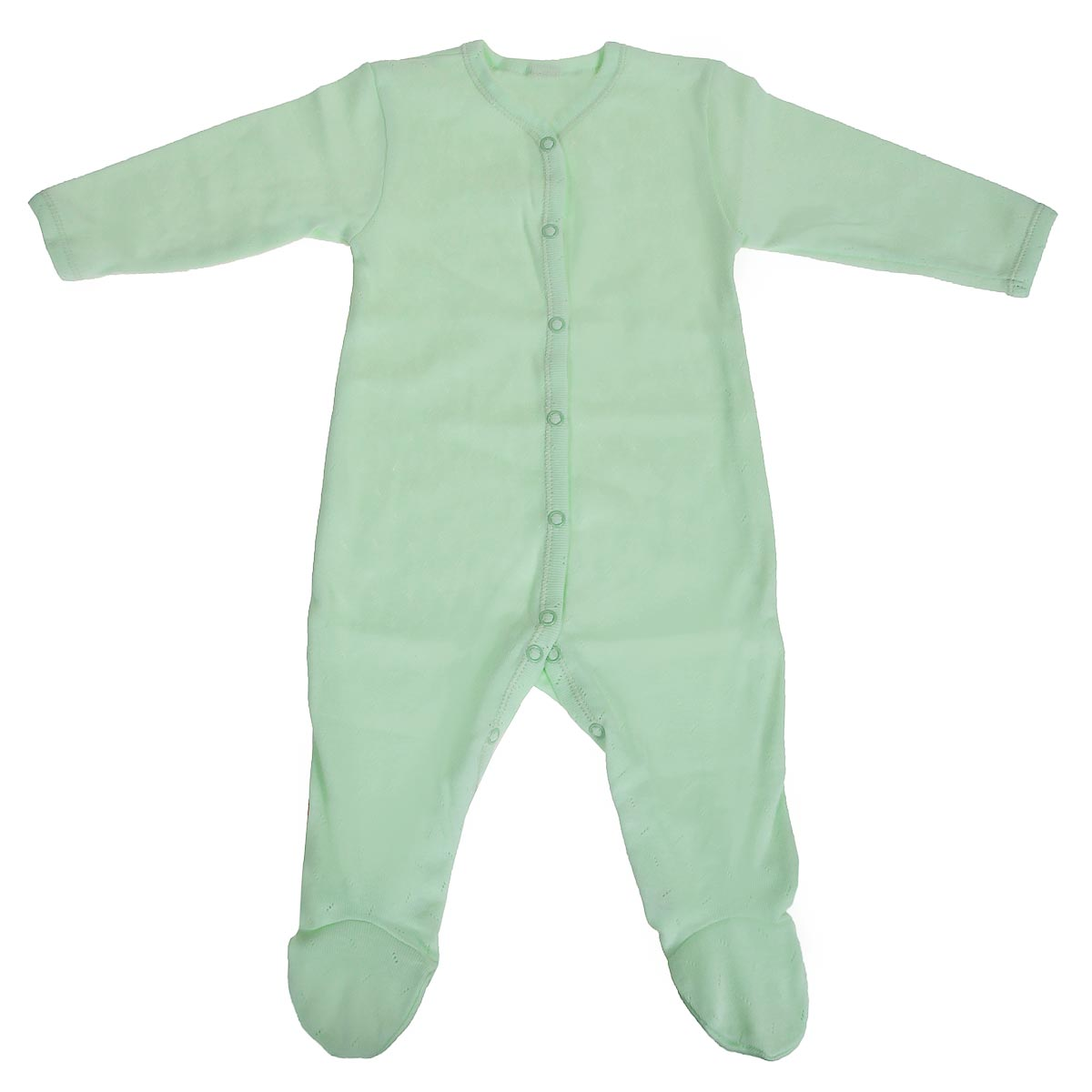 Комбинезон детский Lucky Child Ажур, цвет: зеленый. 0-12. Размер 68/740-12Детский комбинезон Lucky Child - очень удобный и практичный вид одежды для малышей. Комбинезон выполнен из натурального хлопка, благодаря чему он необычайно мягкий и приятный на ощупь, не раздражают нежную кожу ребенка и хорошо вентилируются, а эластичные швы приятны телу малыша и не препятствуют его движениям. Комбинезон с длинными рукавами и закрытыми ножками имеет застежки-кнопки от горловины до щиколоток, которые помогают легко переодеть младенца или сменить подгузник.Модель выполнена из ткани с ажурным узором. С детским комбинезоном Lucky Child спинка и ножки вашего малыша всегда будут в тепле, он идеален для использования днем и незаменим ночью. Комбинезон полностью соответствует особенностям жизни младенца в ранний период, не стесняя и не ограничивая его в движениях!