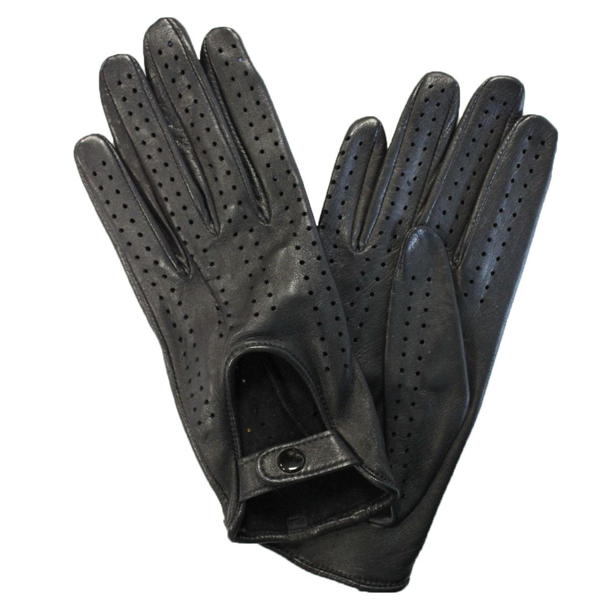 Перчатки женские Edmins, цвет: черный. Э-20L_242. Размер 6,5Э-20L_242Стильные перчатки Edmins без подкладки выполнены из мягкой и приятной на ощупь натуральной кожи ягненка. Такие перчатки станут отличным дополнением к вашему образу.На внешней стороне перчатки сделана выемка, которая застегивается на кнопку. Вся поверхность перчатки декорирована перфорацией.