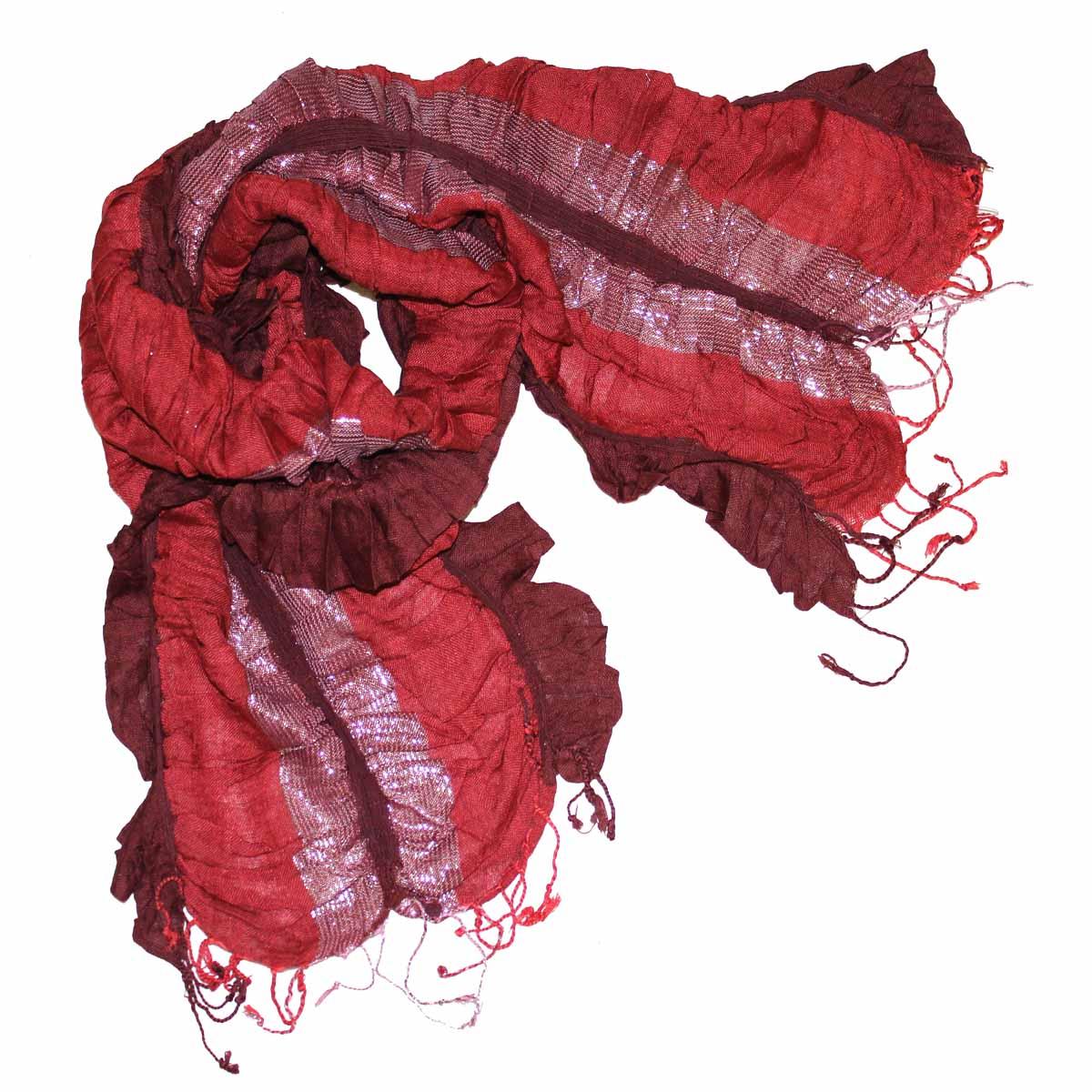 Шарф женский Ethnica, цвет: красный. 95075. Размер 56 см х 183