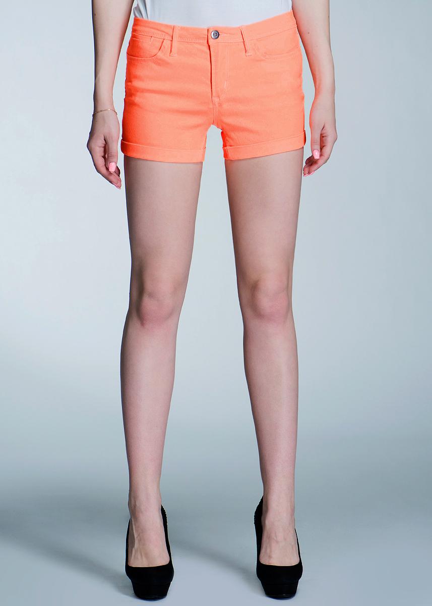 Шорты женские ICHI, цвет: оранжевый. 101099. Размер 34 (40/42)
