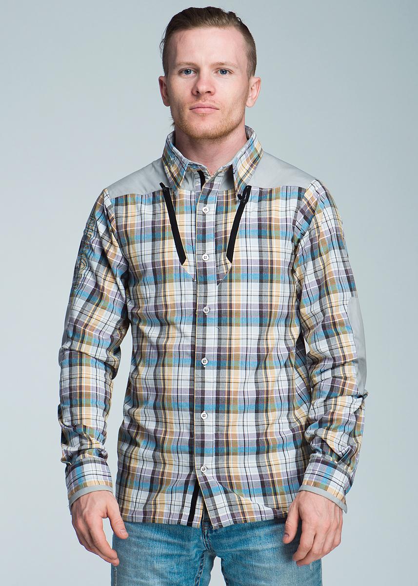 Рубашка мужская Norfin Summer Long Sleeves, цвет: светло-серый, светло-оранжевый. 653001. Размер S (44)653001Стильная мужская рубашка Norfin Summer Long Sleeves, изготовленная из 100% нейлона, необычайно мягкая и приятная на ощупь, не сковывает движения, обеспечивая наибольший комфорт. Рубашка выполнена из особо прочного и быстро сохнущего материала. Материал Nylon создает чувство прохлады и высыхает очень быстро, сохраняя ощущение комфорта даже в самую жаркую погоду. Предусмотрена дополнительная вентиляция на спине.Модель с длинными рукавами, отложным воротником и удлиненной спинкой, застегивается на пуговицы по всей длине изделия. Манжеты рукавов также застегиваются на пуговицы. На груди предусмотрены два прорезных кармана на пластиковой застежке-молнии. Рукава украшены декоративными заплатами. Оформлена модель принтом в крупную клетку, а также вышивками.Эта рубашка - идеальный вариант, как для повседневного, так и для вечернего гардероба. Такая модель порадует настоящих ценителей комфорта и практичности!