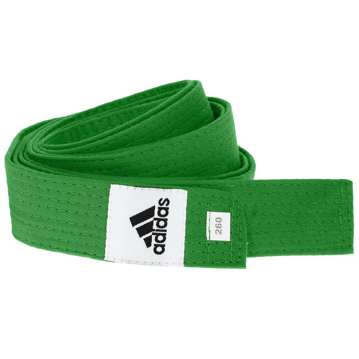 Пояс для единоборств adidas Club, цвет: зеленый. adiB220. Длина 280 смadiB220Пояс для единоборств adidas Club - универсальный пояс для кимоно. Пояс выполнен из плотного хлопкового материала с прострочкой.Такой пояс - необходимый аксессуар для тех, кто занимается боевыми искусствами.