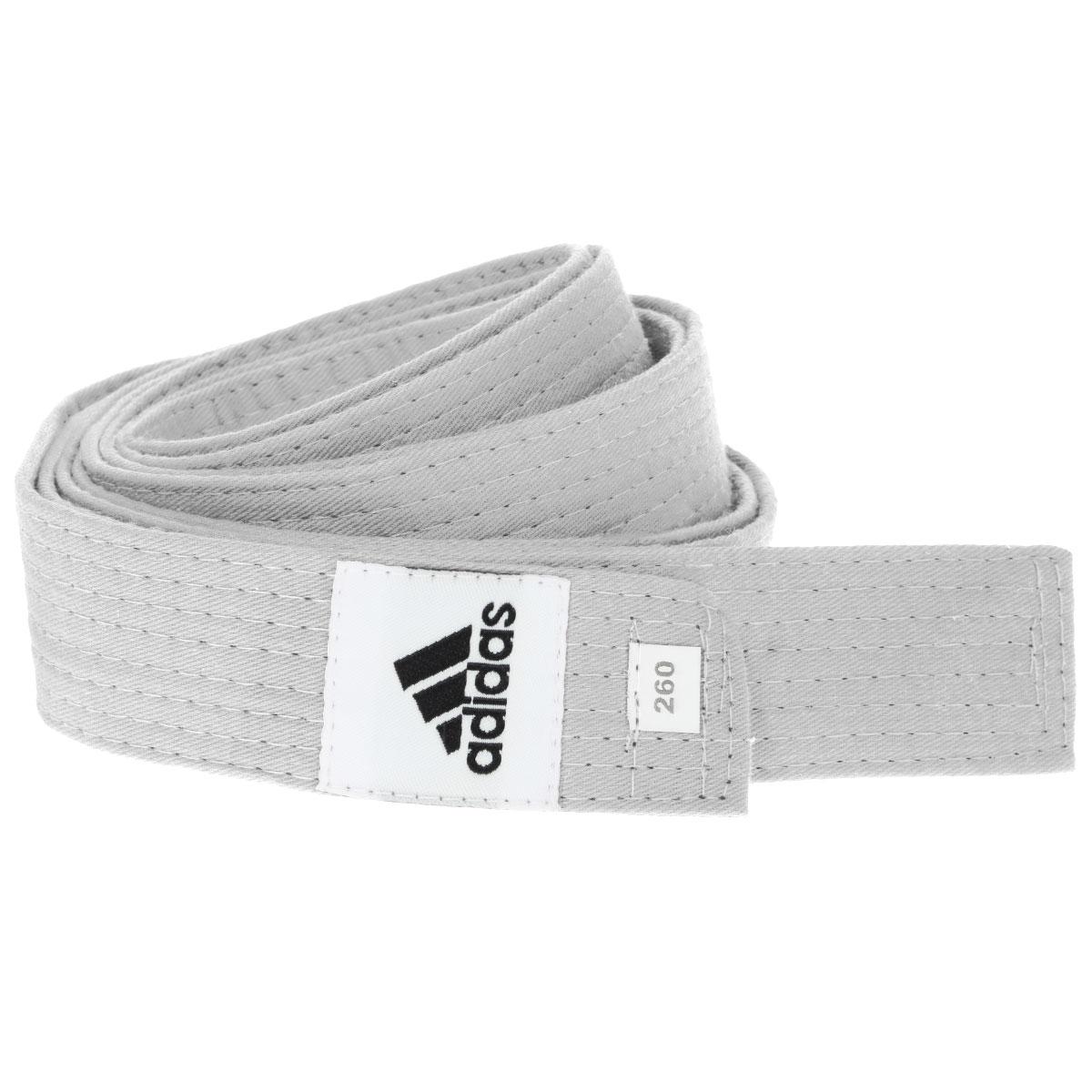 Пояс для единоборств adidas Club, цвет: белый. adiB220. Длина 260 смadiB220Пояс для единоборств adidas Club - универсальный пояс для кимоно. Пояс выполнен из плотного хлопкового материала с прострочкой.Такой пояс - необходимый аксессуар для тех, кто занимается боевыми искусствами.