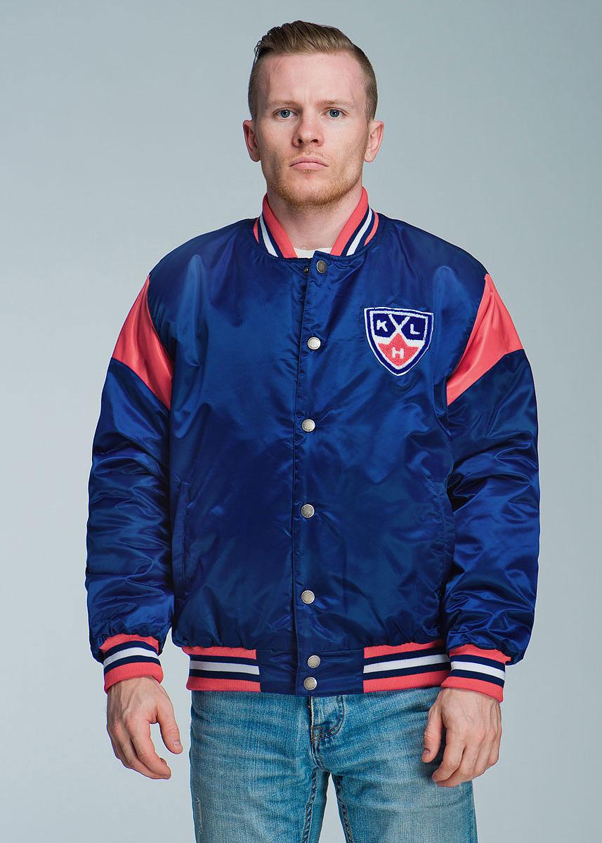 Куртка мужская Atributika & Club КХЛ, цвет: темно-синий, красный. 270500. Размер S (46)