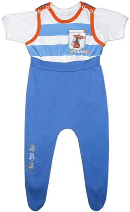 Комплект для мальчика Bell Bimbo: футболка, ползунки с грудкой, цвет: голубой, белый. 136013. Размер 62-40136013Практичный комплект для новорожденного мальчика Bell Bimbo - это замечательный подарок, который прекрасно подойдет для первых дней жизни малыша. Комплект состоит из футболки и ползунков с высокой грудкой.Изготовленный из натурального хлопка, он необычайно мягкий и приятный на ощупь, не сковывает движения малыша и позволяет коже дышать, не раздражает даже самую нежную и чувствительную кожу ребенка, обеспечивая ему наибольший комфорт. Футболка с короткими рукавами-реглан и круглым вырезом горловины имеет застежки-кнопки по плечу, которые позволяют без труда переодеть ребенка.Ползунки с закрытыми ножками, застегивающиеся сверху на кнопки, подходят для ношения с подгузником и без него. Слева на груди они оформлены оригинальным рисунком, имитирующим кармашек. Комплект полностью соответствуют особенностям жизни младенца в ранний период, не стесняя и не ограничивая его в движениях. В таком комплекте ваш малыш будет чувствовать себя комфортно, уютно и всегда будет в центре внимания!