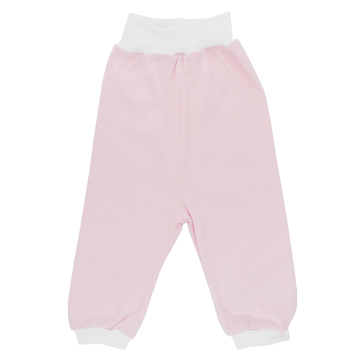 Штанишки на широком поясе Bell Bimbo, цвет: светло-розовый, белый. 136063. Размер 68-44136063Штанишки на широком поясе Bell Bimbo послужат идеальным дополнением к гардеробу вашего младенца, обеспечивая ему наибольший комфорт.Модель, изготовленная из натурального хлопка, необычайно мягкая и легкая, не раздражает нежную кожу ребенка и хорошо вентилируется, а эластичные швы приятны телу и не препятствуют его движениям. Штанишки, благодаря широкому эластичному поясу, не сдавливают животик ребенка и не сползают, идеально подходят для ношения с подгузником и без него. Понизу штанины дополнены неширокими трикотажными манжетами, мягко обхватывающими щиколотки.Штанишки полностью соответствуют особенностям жизни ребенка в ранний период, не стесняя и не ограничивая его в движениях.
