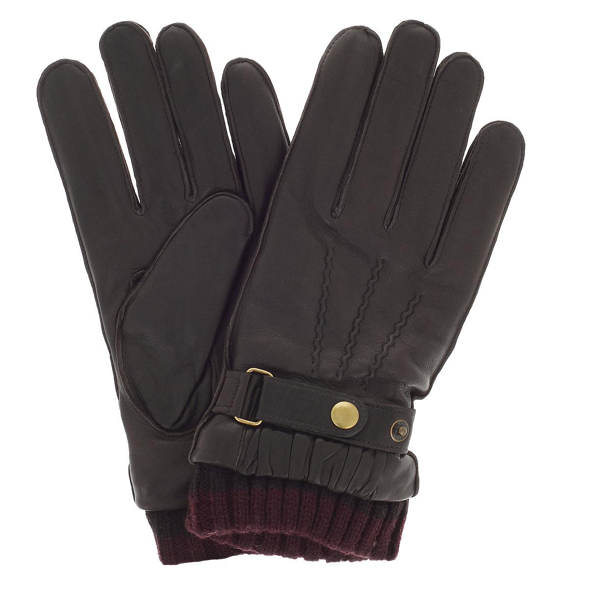 Перчатки мужские Michel Katana, цвет: коричневый. K12-JUR/BR. Размер 9,5K12-JUR/BRСтильные мужские перчатки Michel Katana не только защитят ваши руки, но и станут великолепным украшением. Перчатки выполнены из чрезвычайно мягкой и приятной на ощупь натуральной кожи ягненка, а их подкладка - из шерсти. Перчатки дополнены вязаными манжетами и оформлены ремешками, застегивающимися на кнопку. Модель благодаря своему лаконичному исполнению прекрасно дополнит образ любого мужчины и сделает его более стильным, придав тонкую нотку брутальности. Создайте элегантный образ и подчеркните свою яркую индивидуальность новым аксессуаром!