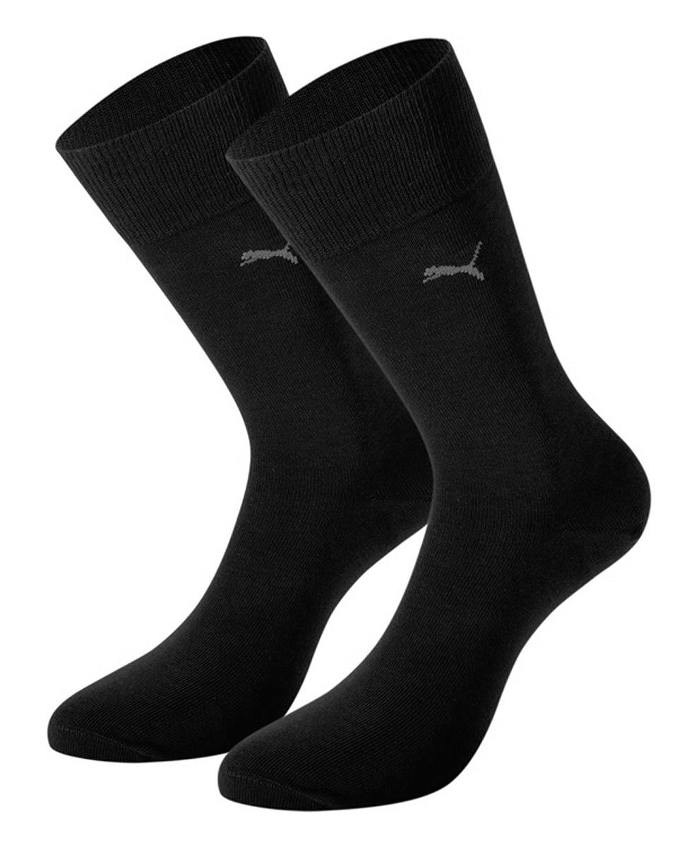 Носки мужские Puma Classic, цвет: черный, 2 пары. 89040206. Размер 39/4289040206Классические мужские носки Puma Classic с удлиненным паголенком изготовлены из хлопка с добавлением полиамида и эластана. Комфортная широкая резинка не сдавливает и комфортно облегает ногу.В комплект входят две пары носков.