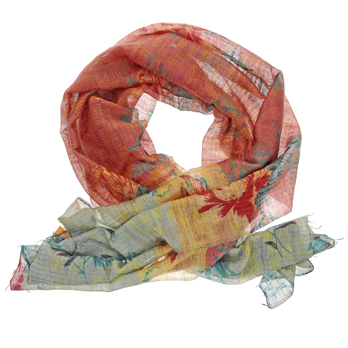Палантин Michel Katana, цвет: зеленый, красный. SW-KANTHA/PINK. Размер 80 см x 180 смSW-KANTHA/PINKСтильный палантин Michel Katana согреет в холодное время года, а также станет изысканным аксессуаром, который призван подчеркнуть вашу индивидуальность и стиль. Палантин выполнен из шерсти с добавлением шелка и декорирован цветочным орнаментом. По краям изделие оформлено кисточками.