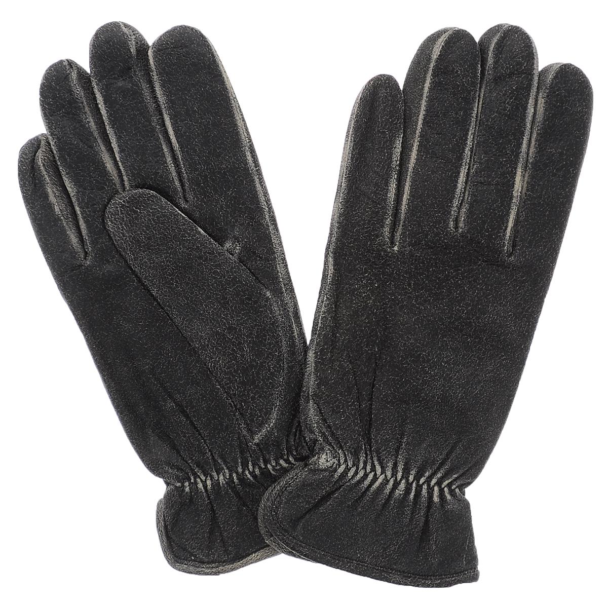 Фото Перчатки мужские Dali Exclusive, цвет: темно-серый. WILD/MEL. Размер 8. Покупайте с доставкой по России