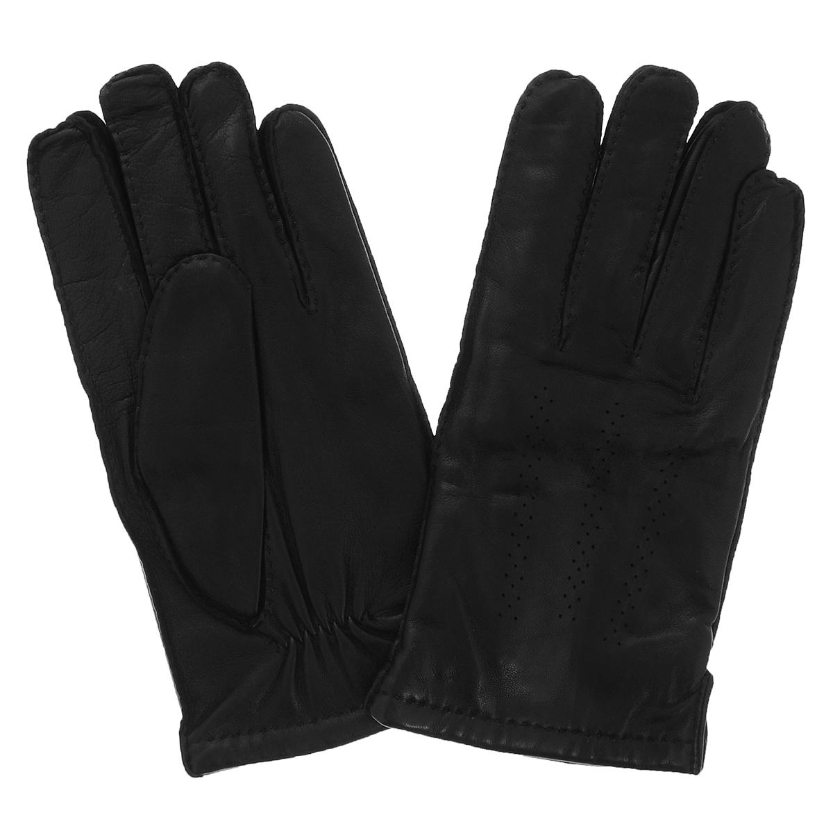 Перчатки мужские Dali Exclusive, цвет: черный. 100_GRES/BL. Размер 8,5100_GRES/BLКлассические мужские перчатки Dali Exclusive не только защитят ваши руки, но и станут великолепным украшением. Перчатки выполнены из чрезвычайно мягкой и приятной на ощупь натуральной кожи ягненка, а их подкладка - из натуральной овечьей шерсти. Перчатки с внешней стороны оформлены декоративной перфорацией и стежками.Модель благодаря своему лаконичному исполнению прекрасно дополнит образ любого мужчины и сделает его более стильным, придав тонкую нотку брутальности. Создайте элегантный образ и подчеркните свою яркую индивидуальность новым аксессуаром!