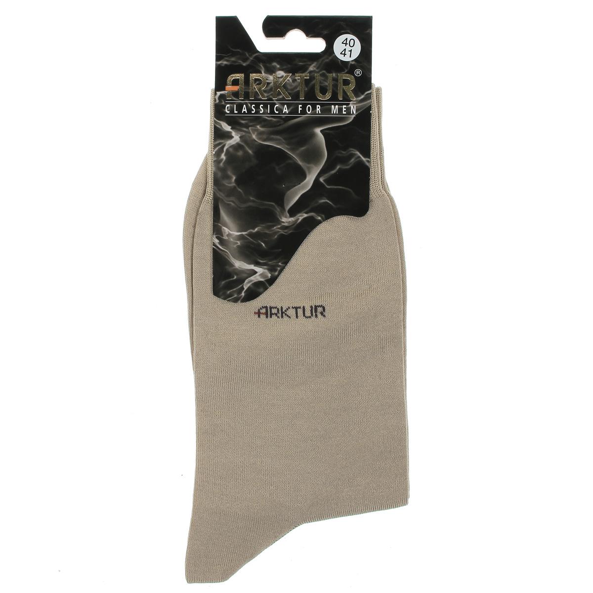 Носки мужские Arktur, цвет: светло-бежевый. Л150. Размер 40/41Л150Мужские носки Arktur престижного класса. Носки превосходного качества из мерсеризованного хлопка отличаются гладкой текстурой и шелковистостью, что создает приятное ощущение нежности и прохлады. Эргономичная резинка пресс-контроль комфортно облегает ногу. Носки обладают повышенной прочностью, не подвержены усадке. Усиленная пятка и мысок. Удлиненный паголенок.Идеальное сочетание практичности, комфорта и элегантности!