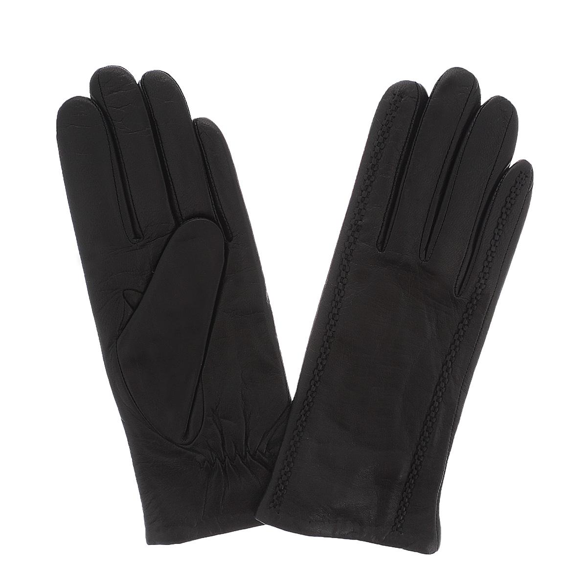 Перчатки женские Dali Exclusive, цвет: черный. 11_CAMBOLE/NEW. Размер 611_CAMBOLE/NEWСтильные перчатки Dali Exclusive с подкладкой из шерсти выполнены из мягкой и приятной на ощупь натуральной кожи ягненка.С лицевой стороны перчатки оформлены декоративными швами. Такие перчатки подчеркнут ваш стиль и неповторимость.