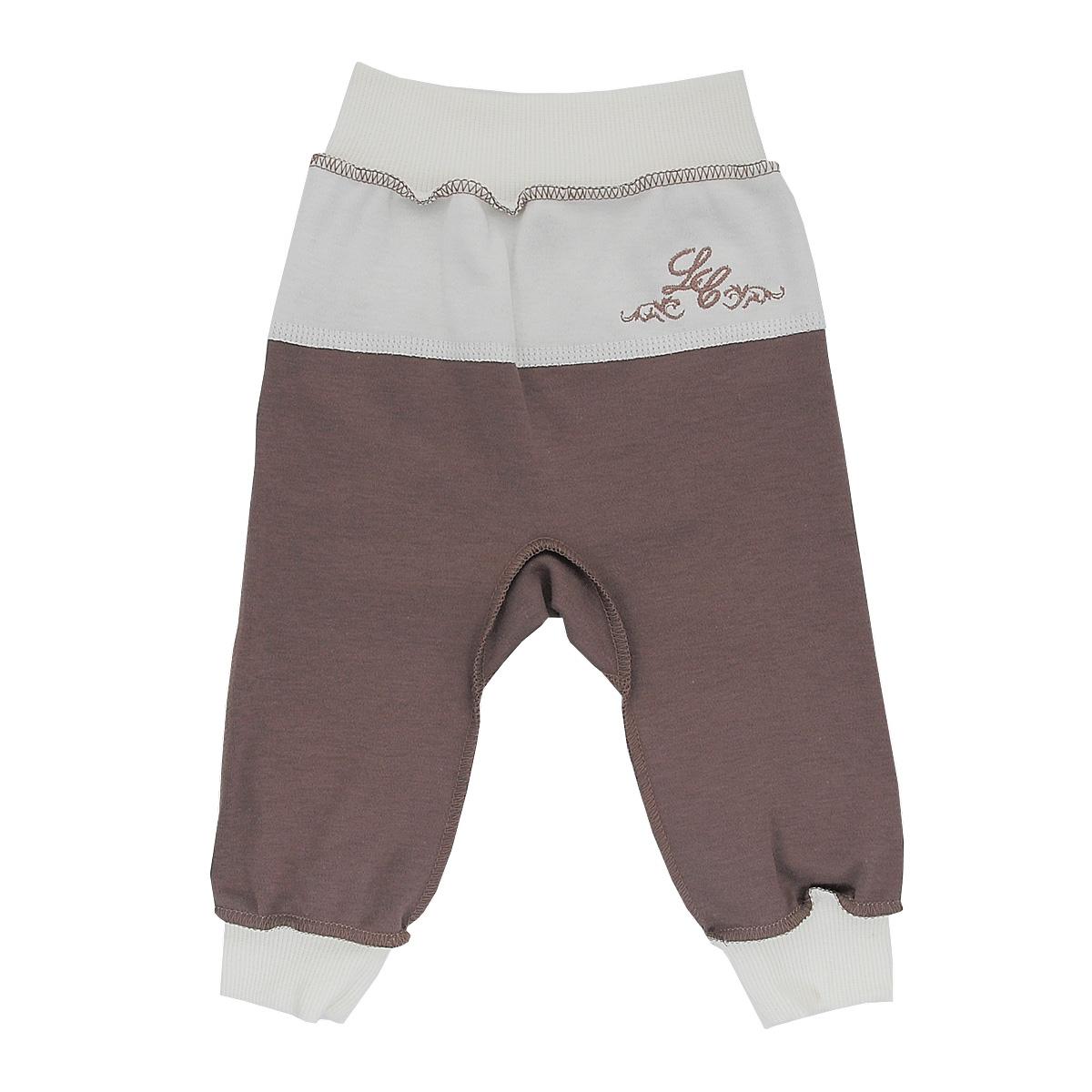 Брюки для мальчика Lucky Child, цвет: кофейный. 20-11. Размер 80/8620-11Стильные брюки для мальчика Lucky Child станут прекрасным дополнением к гардеробу вашего малыша. Изготовленные из натурального хлопка, они необычайно мягкие и приятные на ощупь, не сковывают движения ребенка и позволяют коже дышать, не раздражают даже самую нежную и чувствительную кожу ребенка, обеспечивая ему наибольший комфорт. Брюки выполнены швами наружу, на талии имеют широкую эластичную резинку, благодаря чему они не сдавливают животик ребенка и не сползают. Снизу брючины дополнены широкими трикотажными манжетами. Спереди брюки дополнены контрастной вставкой, оформленной вышивкой.В таких брюках ваш ребенок будет чувствовать себя уютно и комфортно и всегда будет в центре внимания!