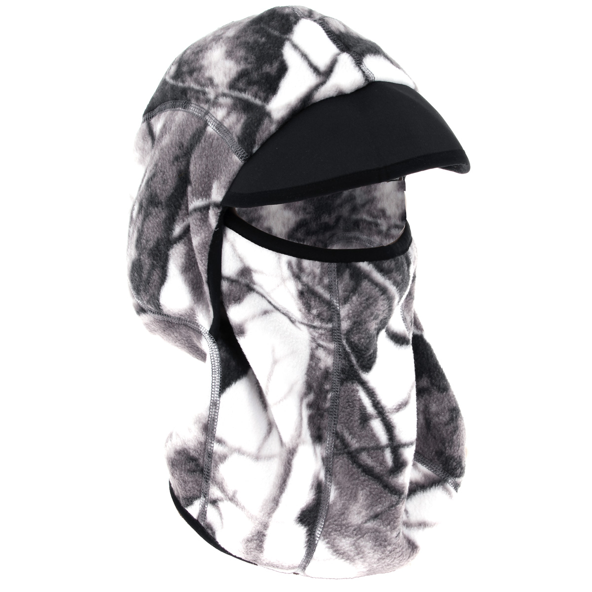 Шапка-маска мужская Norfin, цвет: зимний лес. 752. Размер L (58/59)752-WТеплая шапка-маска Norfin - отличная модель для холодной погоды. Это стильная и износостойкая шапка выполнена из флиса и оформлена вышитым логотипом бренда. Также есть не большой козырек над глазами.