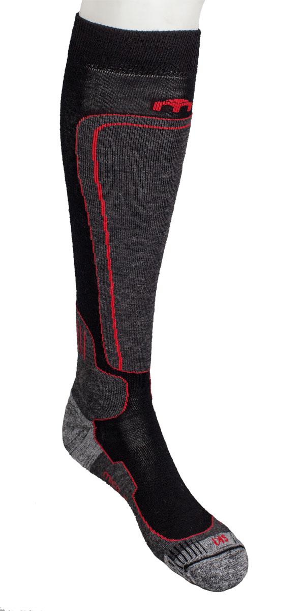 Носки горнолыжные MICO, цвет: черный, красный, серый. 0114. Размер XL (44/46)