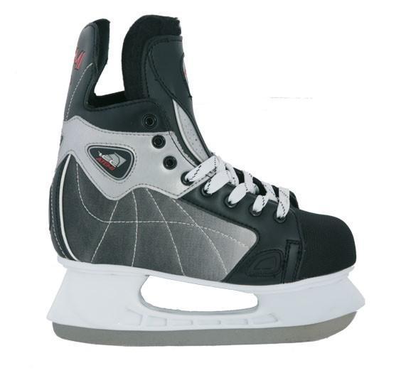 Коньки хоккейные Atemi Force 3.0 2012, цвет: серый,черный.Размер 40