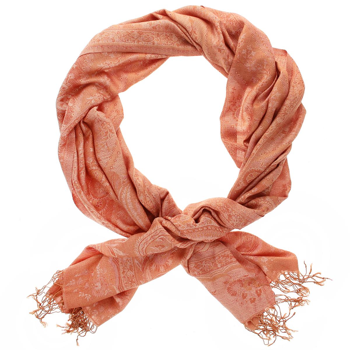 Палантин Ethnica, цвет: оранжевый. 377250н. Размер 70 см х 180