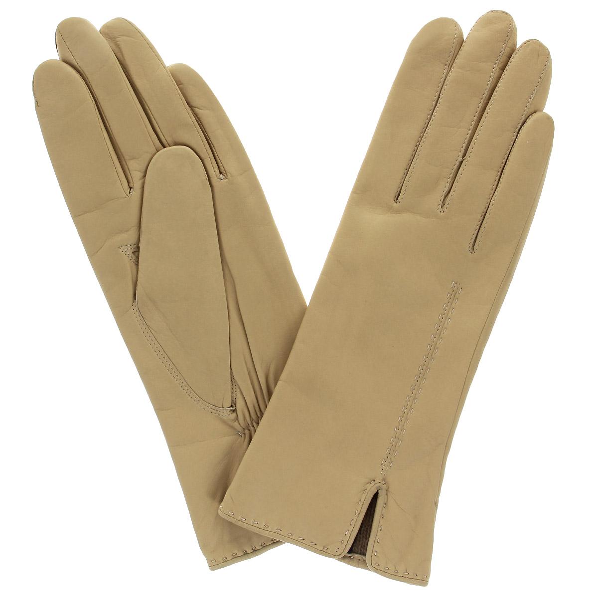 Перчатки женские Dali Exclusive, цвет: бежевый. 13_ALINA/BEIGE. Размер 7,513_ALINA/BEIGEСтильные перчатки Dali Exclusive с подкладкой из шерсти выполнены из мягкой и приятной на ощупь натуральной кожи ягненка. Лицевая сторона перчатки оформлена декоративным швом и дополнена небольшим разрезом. Такие перчатки подчеркнут ваш стиль и неповторимость и придадут всему образу нотки женственности и элегантности.