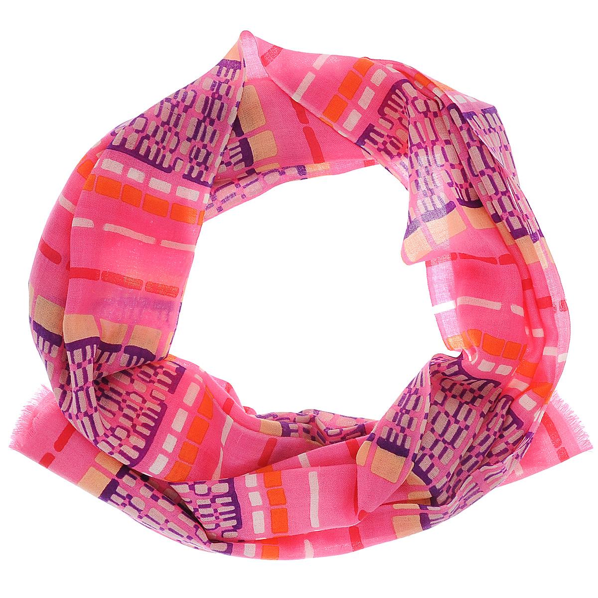 Палантин Moltini, цвет: розовый, фиолетовый, оранжевый. 35004-02S. Размер 70 см х 180 см35004-02SЭлегантный палантин Moltini подчеркнет ваш неповторимый образ. Он выполнен из мягкой натуральной шерсти и оформлен оригинальным принтом. Края палантина декорированы тонкой бахромой. Этот модный аксессуар женского гардероба гармонично дополнит образ современной женщины, следящей за своим имиджем и стремящейся всегда оставаться стильной и элегантной. В этом палантине вы всегда будете выглядеть женственной и привлекательной.