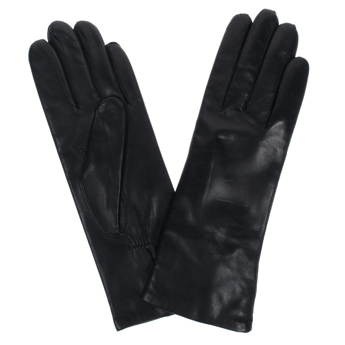 Перчатки женские Bartoc, цвет: черный. DF12-231-r. Размер 6,5DF12-231-rСтильные женские перчатки Bartoc не только защитят ваши руки от холода, но и станут великолепным украшением. Они выполнены из мягкой и приятной на ощупь натуральной кожи ягненка, подкладка - из шерсти. На тыльной стороне перчатки присборены на небольшие резиночки для лучшего прилегания к запястью.Перчатки являются неотъемлемой принадлежностью одежды, вместе с этим аксессуаром вы обретаете женственность и элегантность. Они станут завершающим и подчеркивающим элементом вашего неповторимого стиля и индивидуальности.
