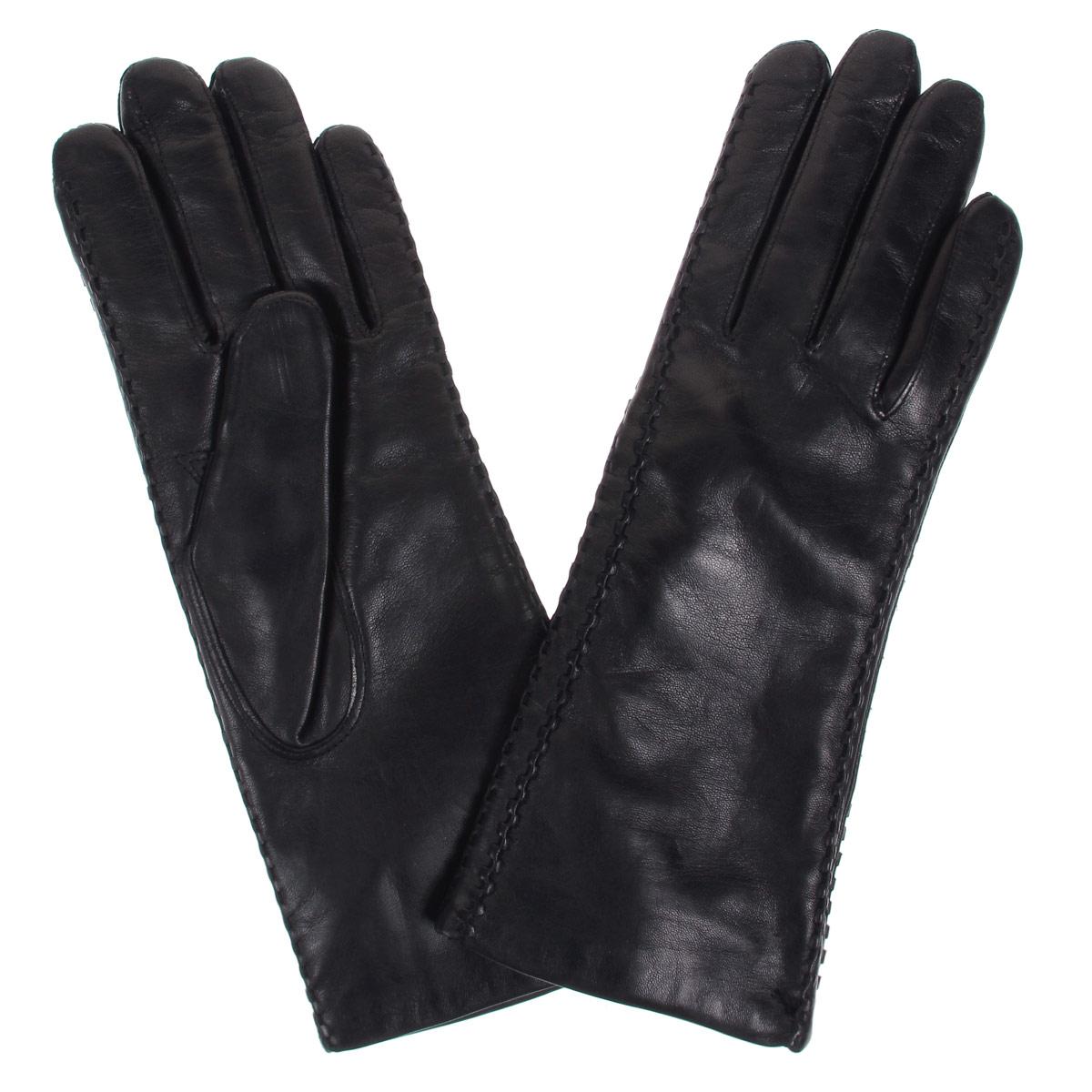 Перчатки женские Bartoc, цвет: черный. DF12-257. Размер 6,5DF12-257Стильные женские перчатки Bartoc не только защитят ваши руки от холода, но и станут великолепным украшением. Они выполнены из мягкой и приятной на ощупь натуральной кожи ягненка, подкладка - из шерсти. Декорирована модель оригинальной рельефной отстрочкой. Перчатки являются неотъемлемой принадлежностью одежды, вместе с этим аксессуаром вы обретаете женственность и элегантность. Они станут завершающим и подчеркивающим элементом вашего неповторимого стиля и индивидуальности.