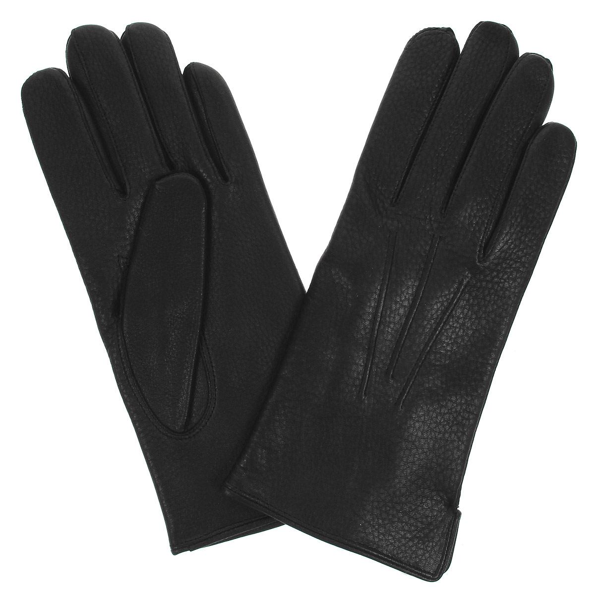 Перчатки мужские Bartoc, цвет: черный. DM42-234. Размер 8,5DM42-234Классические мужские перчатки Bartoc не только защитят ваши руки, но и станут великолепным украшением. Они выполнены из мягкой и особо износостойкой натуральной кожи оленя, а их подкладка - из натуральной шерсти. На внешнем боку перчатки имеется небольшой разрез. Модель на лицевой стороне оформлена декоративной отстрочкой три луча. Перчатки прекрасно дополнят образ любого мужчины и сделают его более стильным, придав тонкую нотку брутальности. Создайте элегантный образ и подчеркните свою яркую индивидуальность новым аксессуаром!