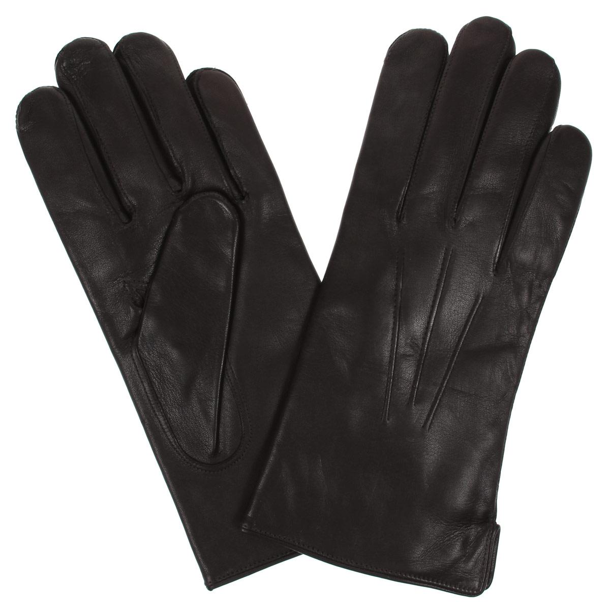 Перчатки мужские Bartoc, цвет: темно-коричневый. DM12-234.mocca. Размер 8,5DM12-234.moccaКлассические мужские перчатки Bartoc не только защитят ваши руки, но и станут великолепным украшением. Они выполнены из мягкой и приятной на ощупь натуральной кожи ягненка, а их подкладка - из натуральной шерсти. На внешнем боку перчатки имеется небольшой разрез. Модель на лицевой стороне оформлена декоративной отстрочкой три луча. Перчатки прекрасно дополнят образ любого мужчины и сделают его более стильным, придав тонкую нотку брутальности. Создайте элегантный образ и подчеркните свою яркую индивидуальность новым аксессуаром!