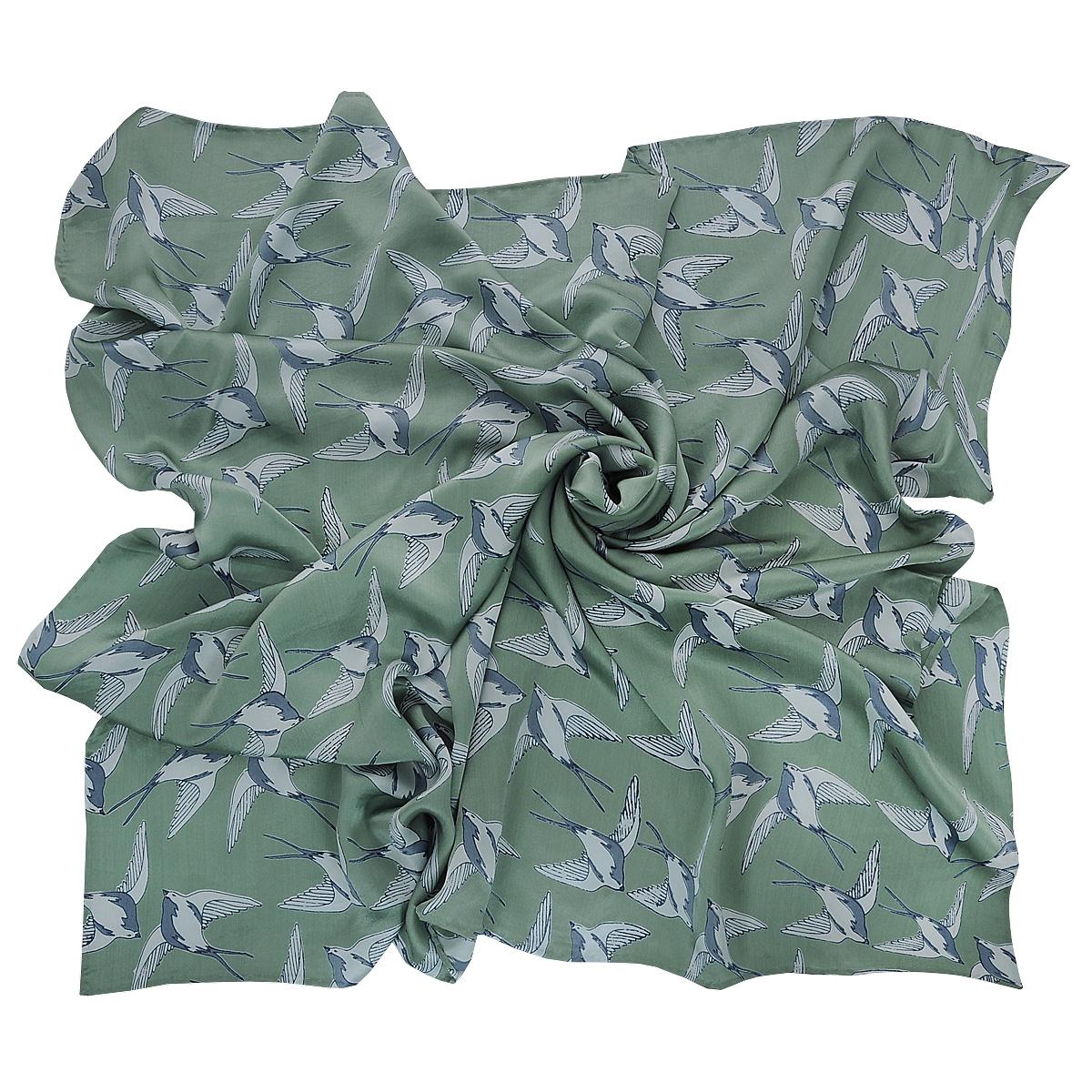 Платок Michel Katana, цвет: фисташковый, серый. SS-DOVE. Размер 110 см x 110 смSS-DOVEЭлегантный шелковый платок Michel Katana станет изысканным нарядным аксессуаром, который призван подчеркнуть индивидуальность и очарование женщины.
