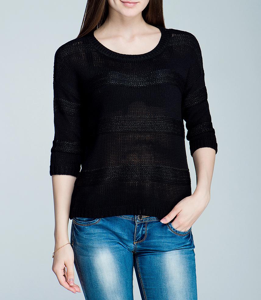 Джемпер женский Broadway, цвет: черный. 10151308. Размер S (42/44)10151308Стильный женский джемпер Broadway, выполненный из высококачественного материала, обладает высокой теплопроводностью, воздухопроницаемостью, очень приятен к телу. Модель с рукавами 3/4, круглым вырезом горловины - идеальный вариант для создания образа в стиле Casual. Джемпер выполнен оригинальной вязкой. Такая модель будет дарить вам комфорт в течение всего дня и послужит замечательным дополнением к вашему гардеробу.