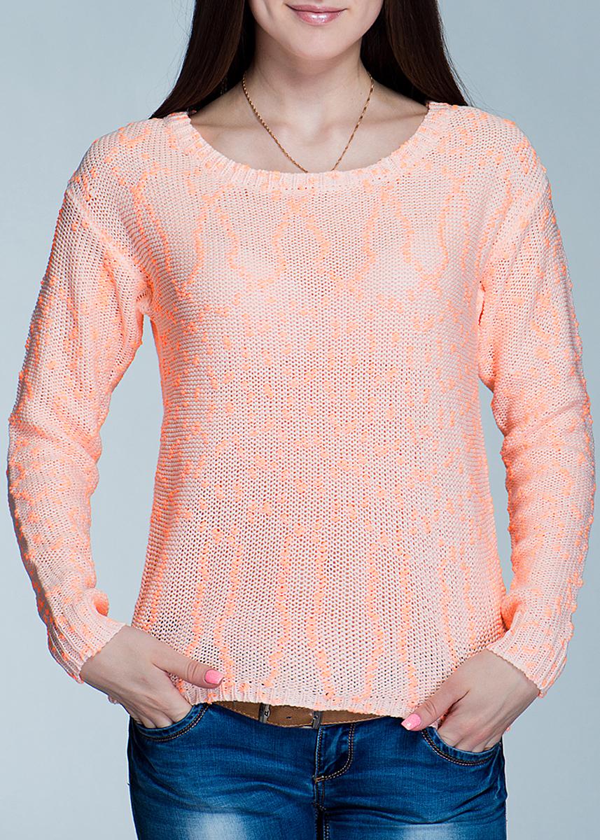 Джемпер женский ICHI, цвет: неоновый оранжевый. 100815. Размер XS (40/42)100815Стильный женский джемпер ICHI, выполненный из высококачественного материала, обладает высокой теплопроводностью, воздухопроницаемостью и гигроскопичностью, позволяет коже дышать. Модель свободного кроя с длинными рукавами и круглым вырезом горловины - идеальный вариант для создания образа в стиле Casual. Такая модель будет дарить вам комфорт в течение всего дня и послужит замечательным дополнением к вашему гардеробу.