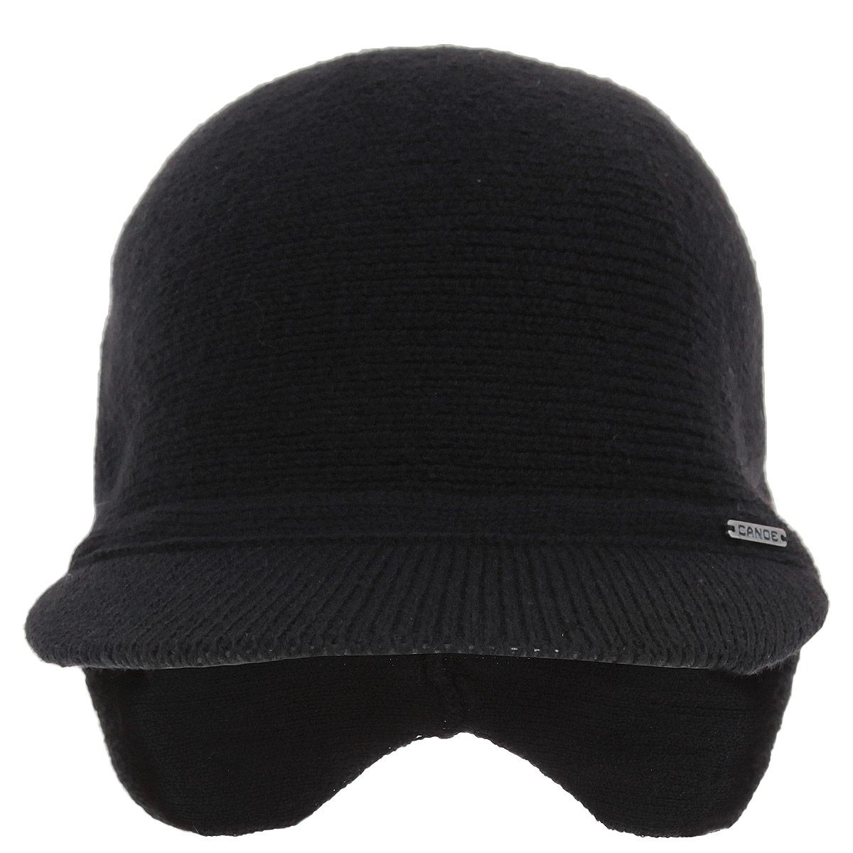 Шапка-кепка мужская Canoe Unix, цвет: черный. 3450171. Размер 56/59