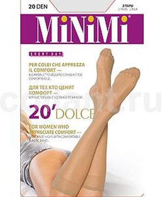 Гольфы женские Minimi Dolce 20, 2 пары, цвет: Caramello (карамельный). Размер универсальный