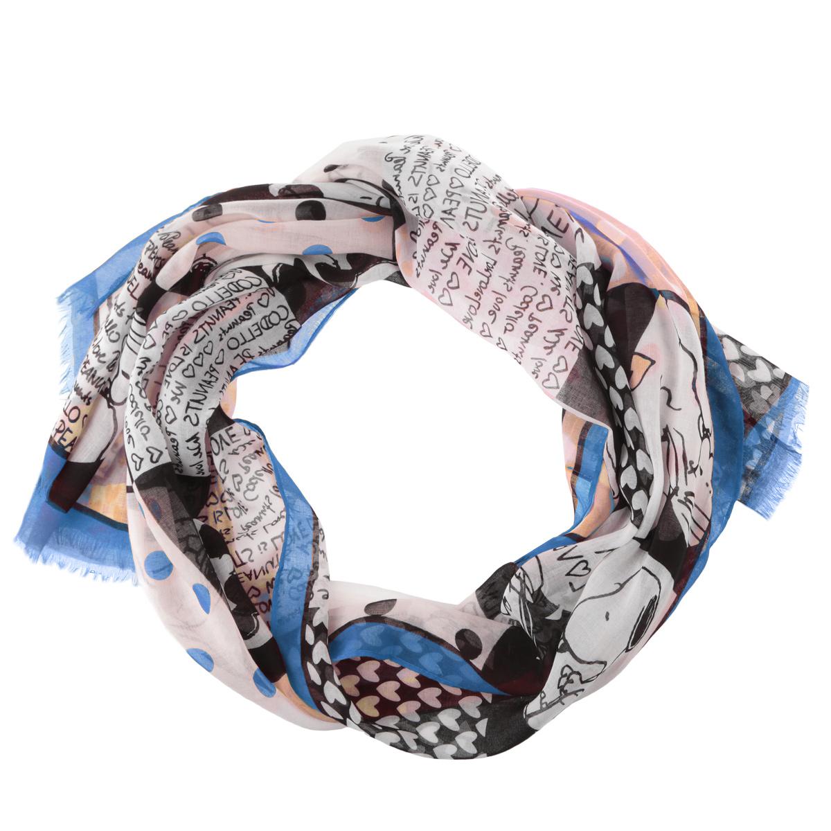 Палантин Codello, цвет: синий, черный. 3400871-11. Размер 65 см х 180