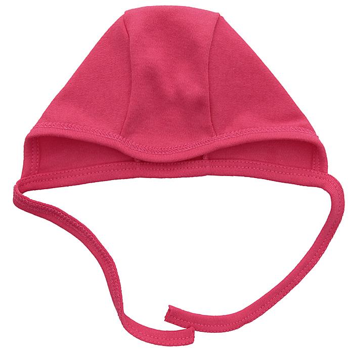 Чепчик для девочки КотМарКот, цвет: ярко-розовый. 3845. Размер 363845Чепчик для девочки КотМарКот, необходимый любому младенцу, защищает еще не заросший родничок, щадит чувствительный слух малышки, прикрывая ушки, и предохраняет от теплопотерь.Чепчик, изготовленный из натурального хлопка - интерлока, необычайно мягкий и легкий, не раздражает нежную кожу ребенка и хорошо вентилируются. С помощью завязок можно регулировать обхват чепчика.