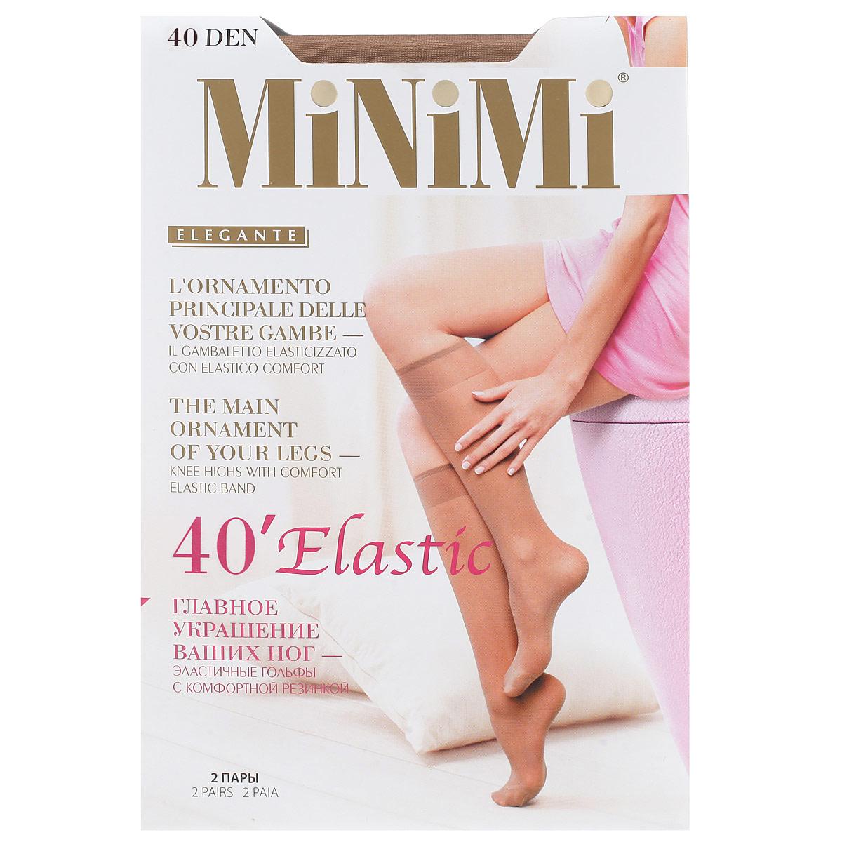 Гольфы Minimi Elastic 40, цвет: коричневый (Daino). Размер универсальныйElastic 40_DainoПлотность: 40 ден.Количество: 2 пары.Эластичные гольфы с резинкой топ комфорт иукрепленным мыском.