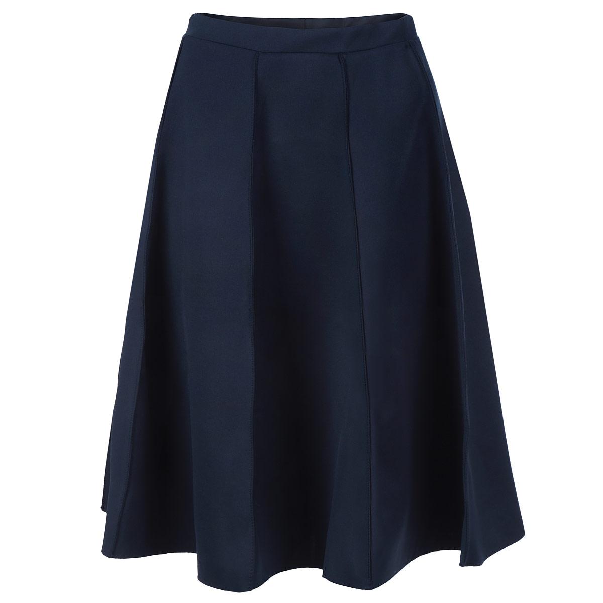 Юбка Top Secret, цвет: темно-синий. SSD0783GR34[E]. Размер 34 (40)SSD0783GRСтильная юбка Top Secret длины миди изготовлена из плотного полиэстера. Юбка расклешенного кроя. На поясе - эластичная резинка. Эта модная и в тоже время комфортная юбка - отличный вариант на каждый день.